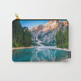 Misty Lake and Snow-cap Mountain Reflections Landscape Photograph Carry-All Pouch