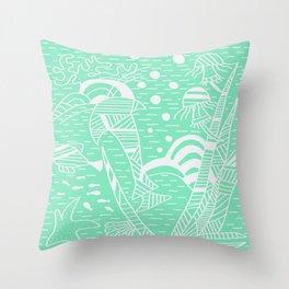 Carnival Glass Sea Life Stripes Throw Pillow