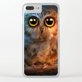 poor owl Clear iPhone Case