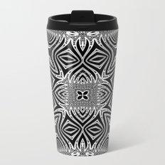Black & White Tribal Symmetry Metal Travel Mug