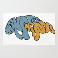 manatee Area & Throw Rugs featuring Manatee Kisses by Katie Duker