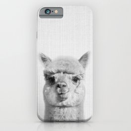 Alpaca headshot iPhone Case