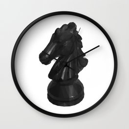 Knight Chess Piece polygon art Wall Clock