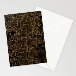 Mexico city map Stationery Cards