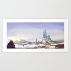 On another planet Art Print