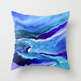 Dreamy Fluid Abstract Painting Throw Pillow