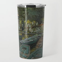 Bathers at La Grenouillere by Claude Monet Travel Mug