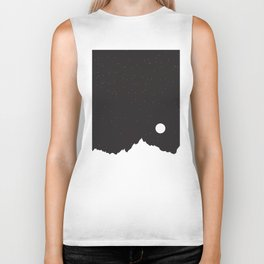 Mountain Sky Night Biker Tank