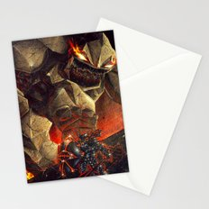 Earth Elemental battle Stationery Cards