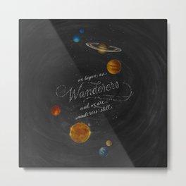 Wanderers - Carl Sagan Metal Print