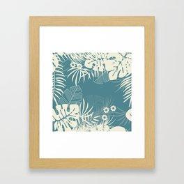 Tropical pattern 047 Framed Art Print