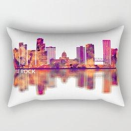 Little Rock Arkansas Skyline Rectangular Pillow
