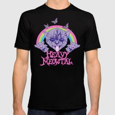Heavy Meowtal Mens Fitted Tee MEDIUM Black