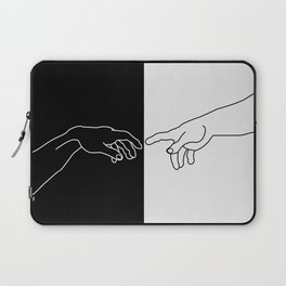 Hands of God and Adam- The creation of Adam Laptop Sleeve
