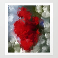 Flower in red Art Print