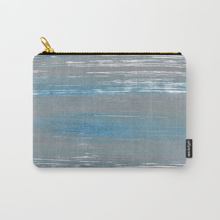 Light blue and gray Carry-All Pouch