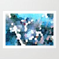 Pattern 7 - Flyin' Blues Art Print