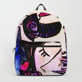 Nude Goddess with Heart by Kathy Morton Stanion Backpack