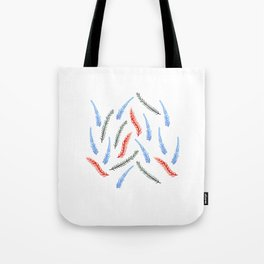 Branches on White Tote Bag