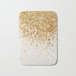Sparkling Gold Glitter Glam #2 #shiny #decor #art #society6 Badematte