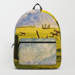 A day in the prairies Backpack