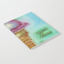 Neon Ice Cream Notebook