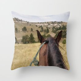 Midnight Run's View Throw Pillow