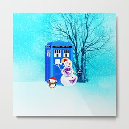 Tardis of Christmas Metal Print