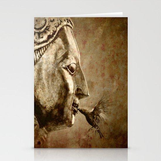 Buddha Kiss - vintage Stationery Cards
