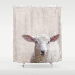 Lamb Portrait Shower Curtain