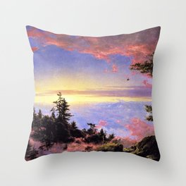 New England - Above the Clouds at Sunrise by Frederic Irwin Church Throw Pillow