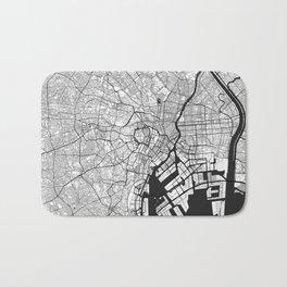 Tokyo Map Gray Bath Mat