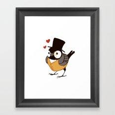 Fancy Chickadee Framed Art Print
