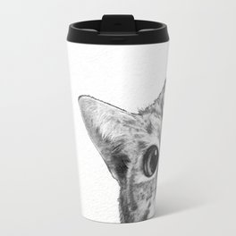 sneaky cat Travel Mug
