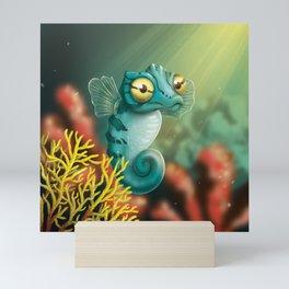 Cute Seahorse Mini Art Print