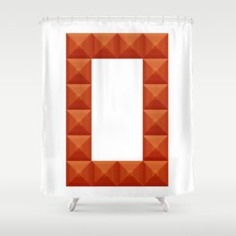 """Letter """"O"""" print in beautiful design Fashion Modern Style Shower Curtain"""