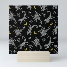 Scorpio Moon on Black Mini Art Print