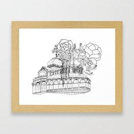 Conservatory of succulent - Black Framed Art Print