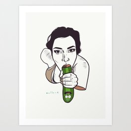 Unknown Celebrity with Pickle Art Print