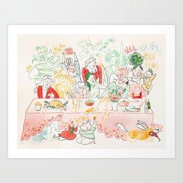 Santa Ceia Art Print