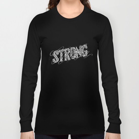 STRONG (White type) Long Sleeve T-shirt