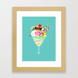 Fancy Ice Cream Celebration Framed Art Print