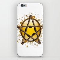 pentagram iPhone & iPod Skins featuring Flower Pentagram by The Painted Kat