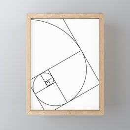 Fibonacci_Blocks Framed Mini Art Print