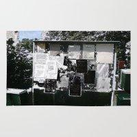 newspaper Area & Throw Rugs featuring Village Newspaper by kromovidjojo