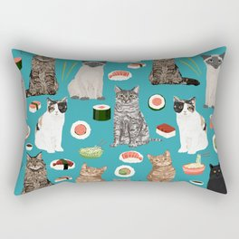 Cat breeds pure bred cats sushi kawaii pet gifts cat person must haves Rectangular Pillow
