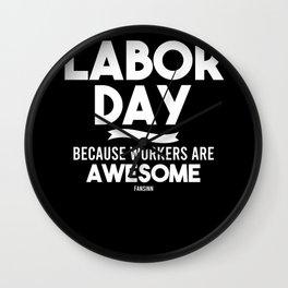 Labor Day holiday Labor USA Canada Wall Clock