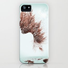 Face of nature iPhone Case
