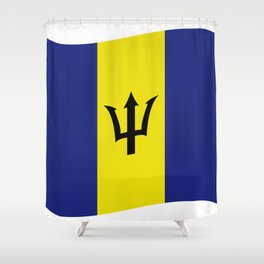 barbados flag Shower Curtain