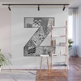 Cutout Letter Z Wall Mural